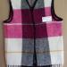 PinkWhite Blanket Vest Wool