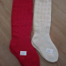 Cotton Folk Costume Socks Hand-knit