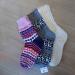 L-Socks Purple Gray White