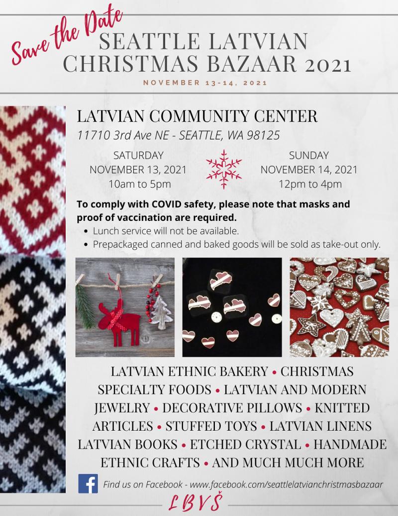 2021 Seattle Latvian Bazaar Flier